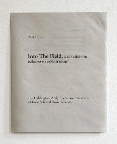 David Price - Into the Field